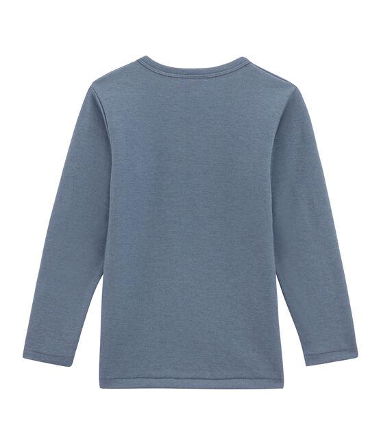 Little boy's long sleeved tee-shirt Turquin blue