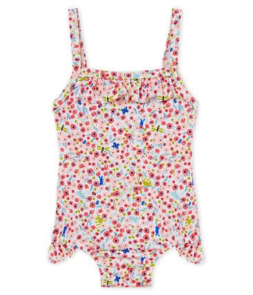 Baby girls' 1p striped print swimsuit