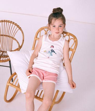 Girls' short Pyjamas Cupcake pink / Marshmallow white