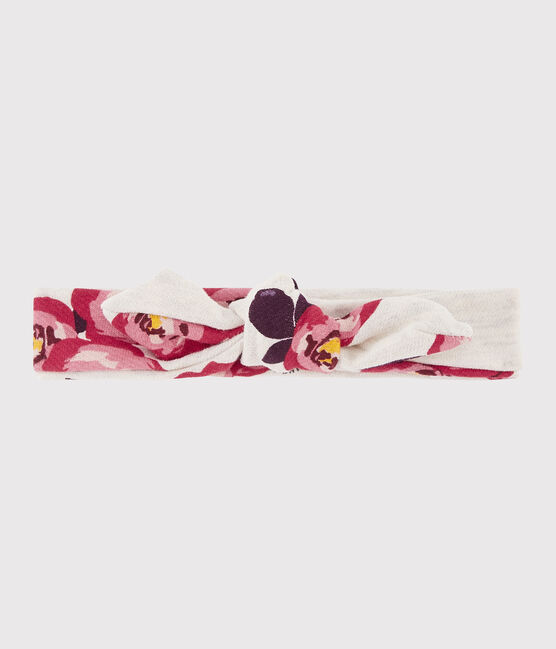 Girls' Printed Headband Montelimar beige / Multico white