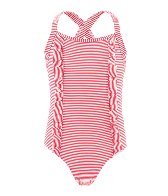 Girls' One-Piece Swimsuit Petal pink / Crystal blue