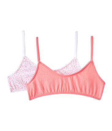 Set of 2 girls' bras . set