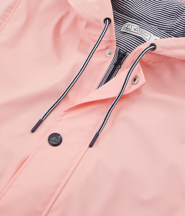 Women's long parka Rosako pink