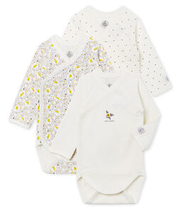 Newborn Baby Girls' Long-Sleeved Bodysuit - 3-Piece Set . set