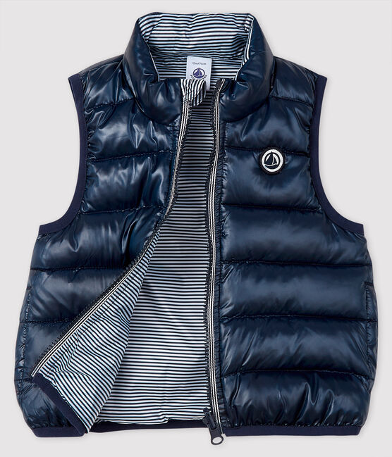 Baby's reversible puffer jacket Smoking blue