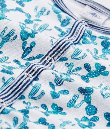 Baby boy's cactus-print footless sleepsuit