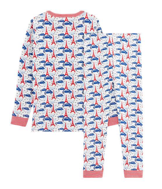 Boys' Snugfit Pyjamas Marshmallow white / Multico white