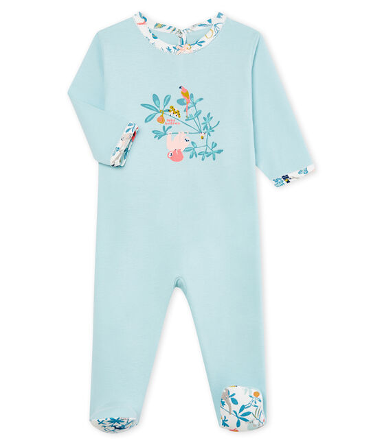 Baby Girls' cotton sleepsuit Crystal blue