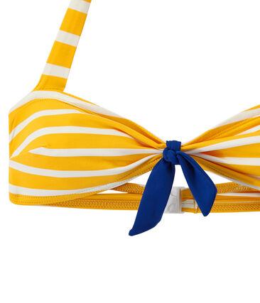 Women's striped two-piece swimsuit