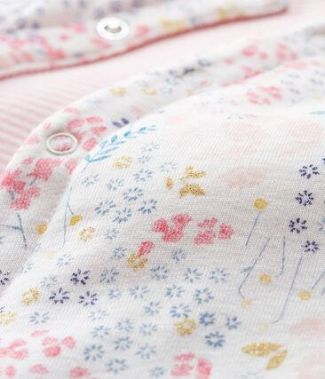 Baby Girls' Reversible Cardigan Marshmallow white / Multico white