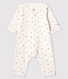 Babies' Grey Starry Footless Organic Cotton Bodyjama Marshmallow white / Multico white