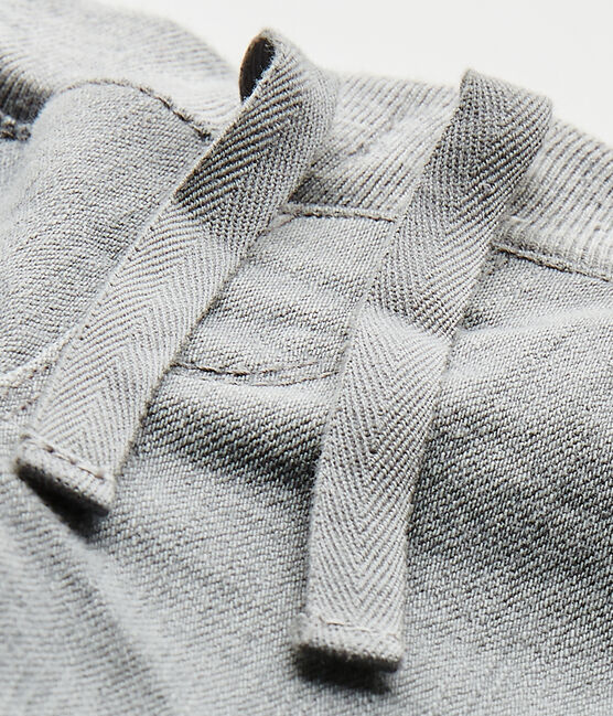 Baby boy's denim pants Gris grey