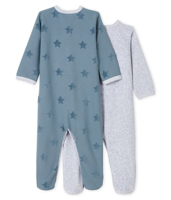 Babies' Velour and Jersey Sleepsuit - 2-Piece Set . set