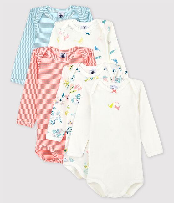 Baby Girls' Long-Sleeved Bodysuit - 5-Pack . set