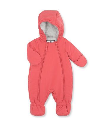 Unisex baby plain snowsuit