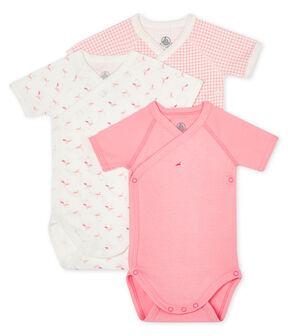 Short-Sleeved Newborn Bodysuit - 3-Piece Set . set