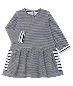 Baby Girls' Long-Sleeved Striped Dress