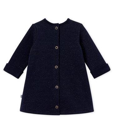 Baby girl's shiny cotton sweatshirt dress