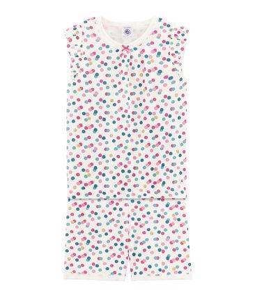 Girls' cropped ribbed pyjamas