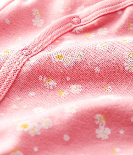 Baby Girls' Cherry Blossom Cotton Sleepsuit Gretel pink / Multico white