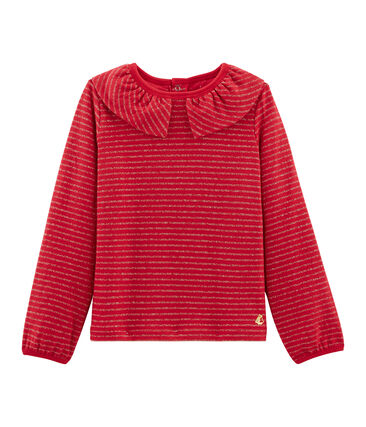 Girls' Long-Sleeved T-shirt Terkuit red / Or yellow
