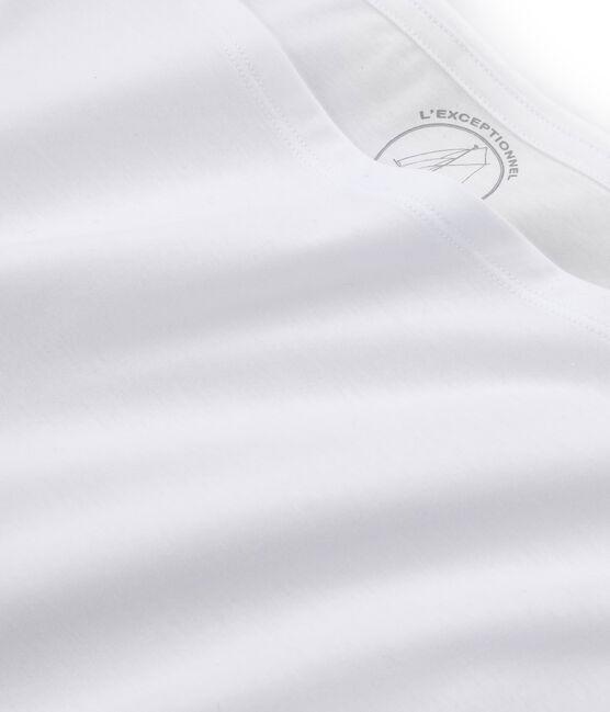 Women's short-sleeved sea island cotton t-shirt Ecume white