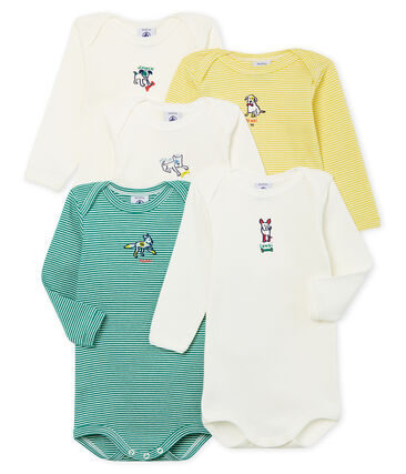 Baby Boys' Long-Sleeved Bodysuit - 5-Piece Set