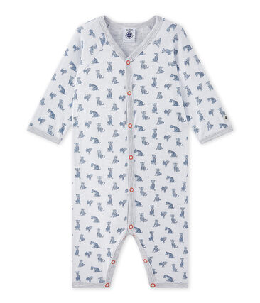 Baby boy's footless sleepsuit in a double knit