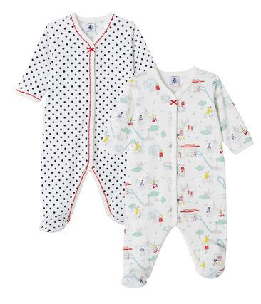 Baby girl's sleepsuit duo