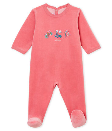 Baby's sleepsuit Cheek pink