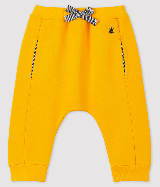 Baby boy's fleece trousers Boudor yellow