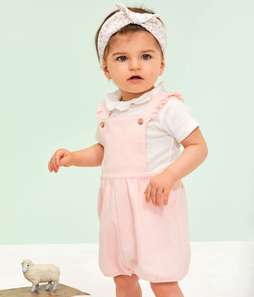 Baby Girls' Dress with Ruff Marshmallow white