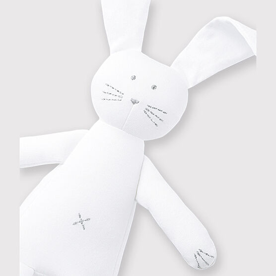 Babies' White Jersey Bunny Comforter Ecume white