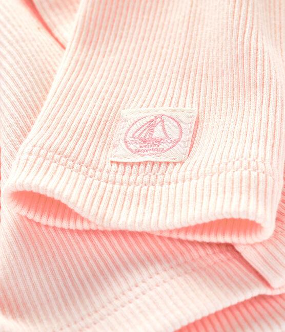 Babies' Organic Cotton 2x2 Rib Knit Cardigan Fleur pink