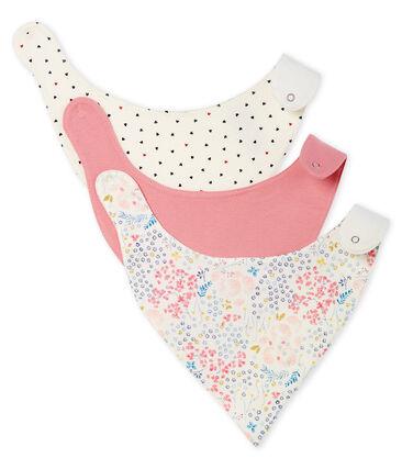 Baby Girls' Rib Knit Bibs - 3-Piece Set