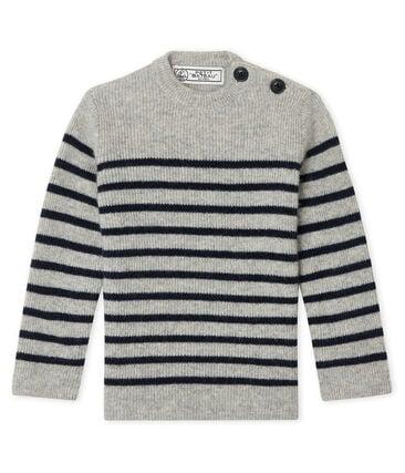 Baby Boys' Cashmere Pullover Beluga grey / Smoking blue