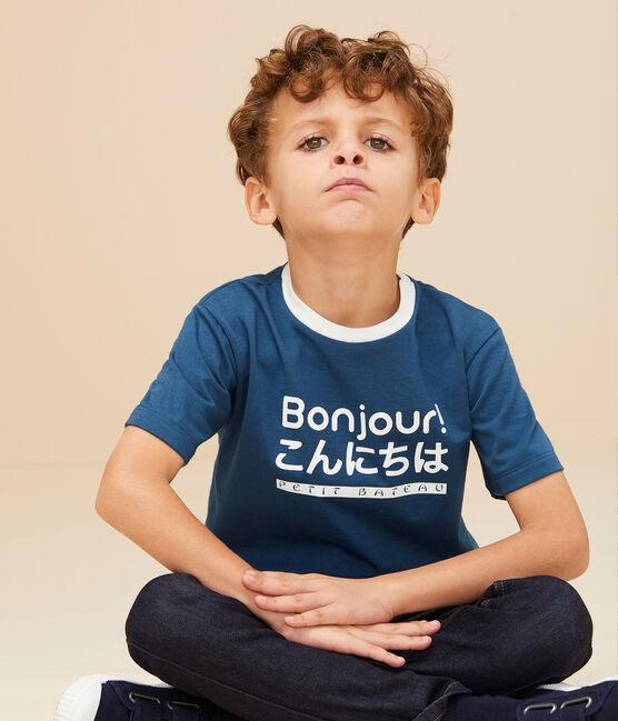 Boys' silkscreen print T-shirt SHADOW