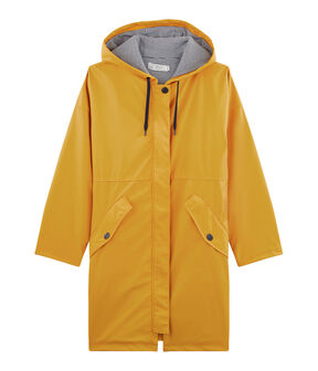 Unisex Long Waxed Coat Boudor yellow