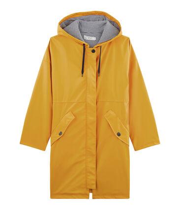 Unisex Long Waxed Coat Boudor yellow