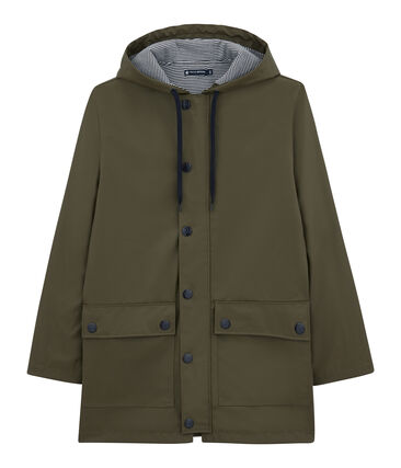 iconic mixed raincoat Litop green