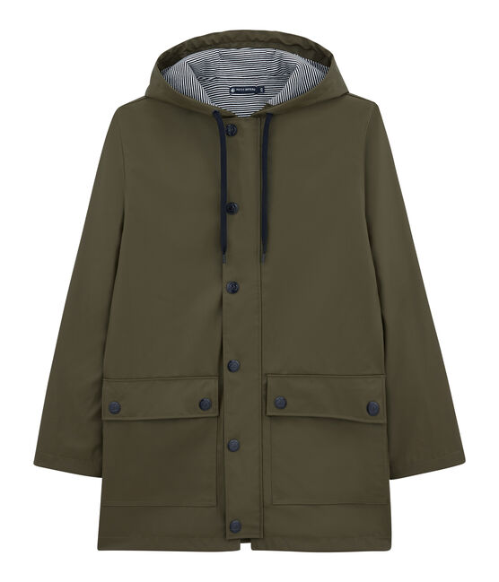 iconic mixed raincoat Litop green