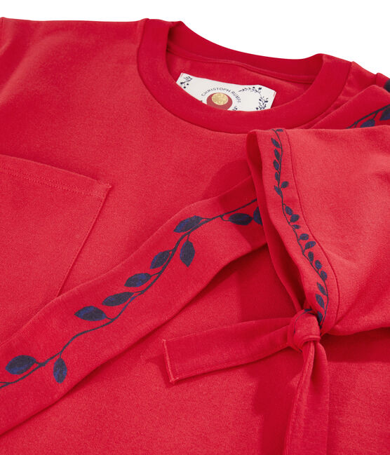 Women's/Men's T-shirt Christoph Rumpf x Petit Bateau Terkuit red