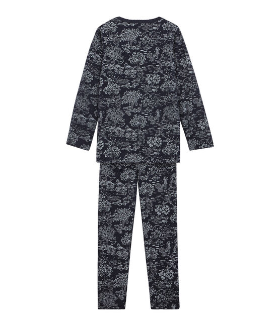 Little girl's pyjamas Smoking blue / Ecume white