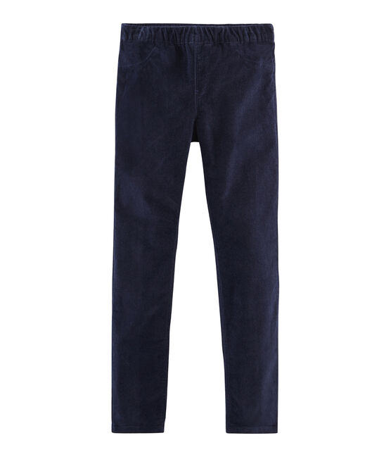 Girls' Slim-Fit Velour Trousers SMOKING