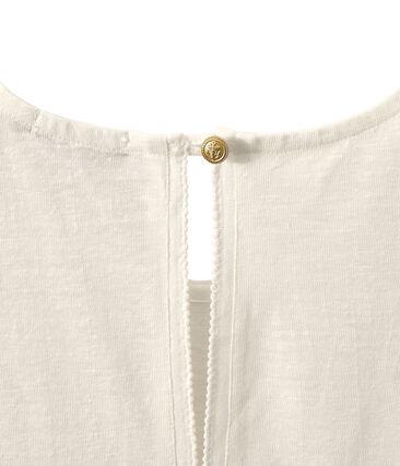 Women's linen sleeveless top Lait white