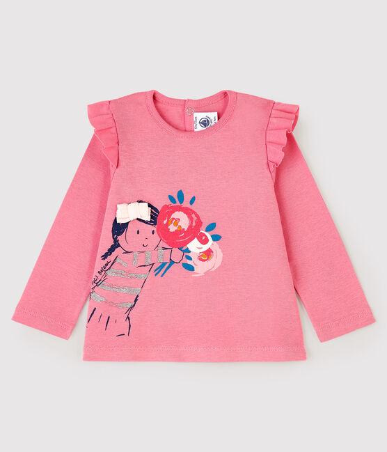 Baby girl's long-sleeved blouse Cheek pink