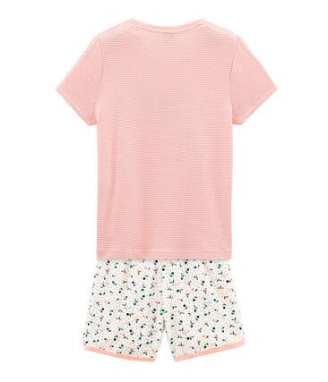 Girls' short Pyjamas in Brushed towelling