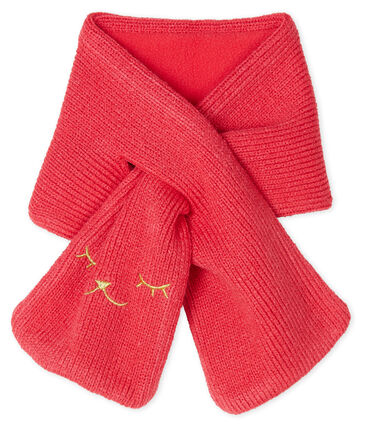 Baby Girls' Fleece-Lined Scarf Signal red