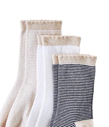 Set of 3 pairs of girl's socks . set
