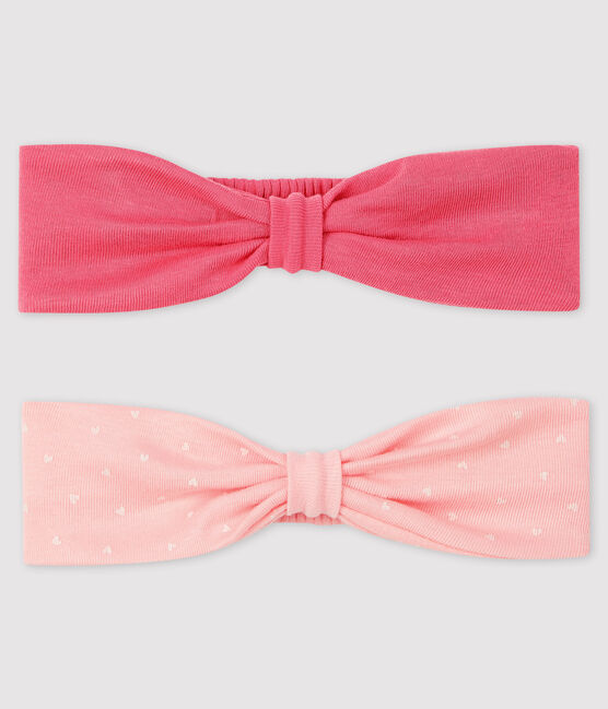 Pack of 2 baby girl's headbands . set